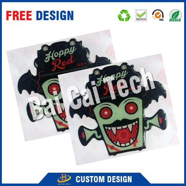 Eco-freidnly material high quality low price free design custom colorful printing 3D epoxy doming sticker