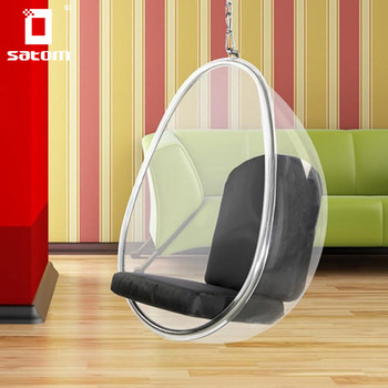 Wholesale Clear Acrylic Furniture Swing Hanging Egg Bubble Chair From China Manufacture