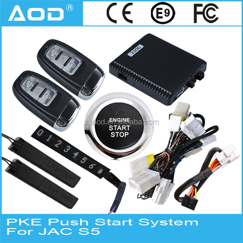Keyless go remote start push button engine start stop system for JAC S5