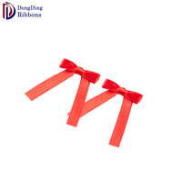 Simple design low price wholesale red dress satin ribbon bow for garment accessories