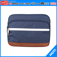 13 inch multi pocket polyester laptop sleeve