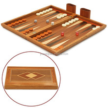 Antique Wooden Backgammon Game 17 Inch Backgammon Set Made in China