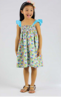 New Floral Printed Girl Summer Dress hot sale baby girls boutique dress