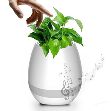 Christmas decoration self watering flower pot egg shell music box plant pots with bluetooth speaker