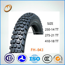 high quality motorcycle tyre and tube 300-10 tyre for scooter 50cc