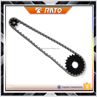 Best quality chain & sprocket sets stainless steel motorcycle chain for sale