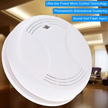High Sensitive Wireless Smoke Detector Photoelectric Fire Alarm Sensor Sound and Flash Warning Alarm Home Security Smoke Alarm