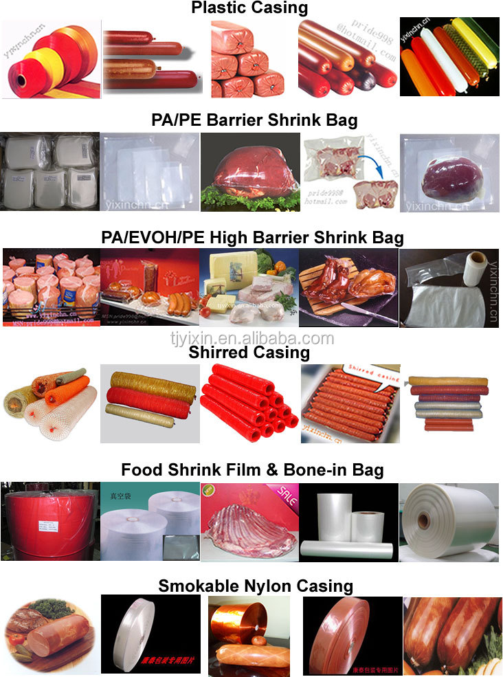 Good quality and low price of plastic casings for ham