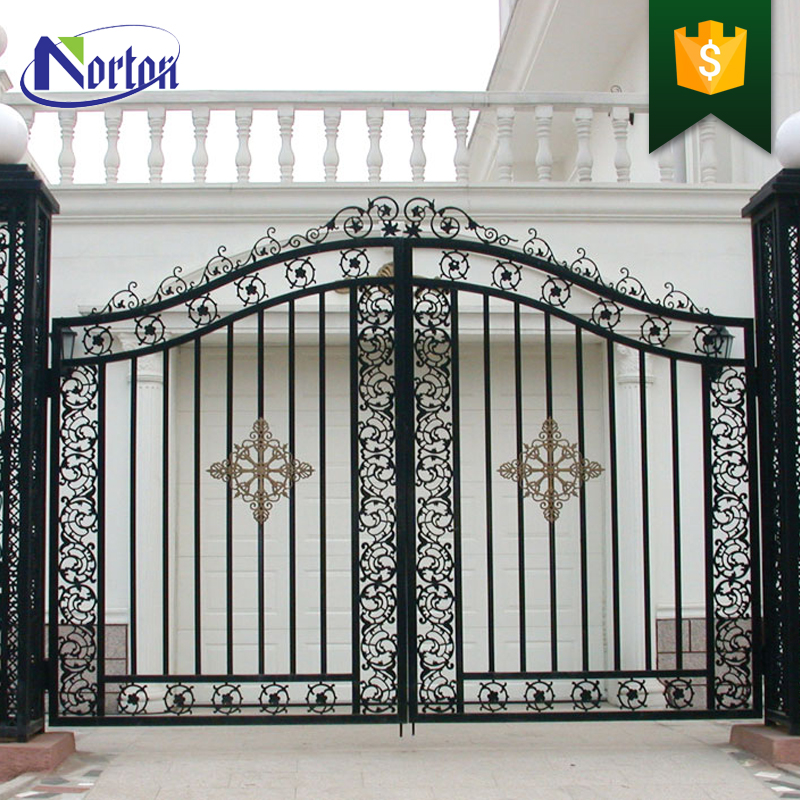 Latest Cheap Indian House Wrought Iron Steel Main Gate: Simple Home Usage Metal Craft Galvanized Iron Sheet Gate