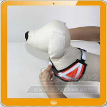Shining Dog Harness Pet Collar Adjustable Nylon Reflective Stripe Puppy Clothing
