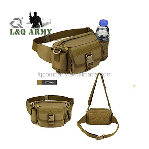 Hot Sale Tactical Waist Pack with Water Bottle Holder, Monstleo Waterproof Military Outdoor Army Waist Fanny Pack for Cycling