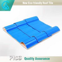 Factory Price Plastic Flat Sheets For Light Weight Fake Spanish Tile Roof