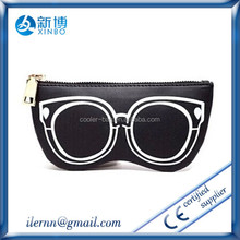 logo printed microfiber sunglasses pouch/glasses bag