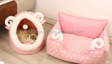 Cat litter bag Pet bed teddy dog kennel The cat claw princess warm cotton nest can unpick and wash sofa bed