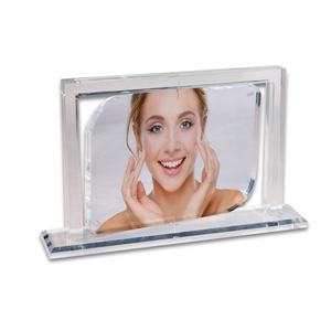 Rotating Modern clear acrylic photo frames new design plastic picture frames perspex frames