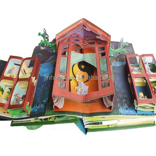 Children pop-up story book printing