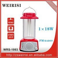 Rechargeable portable emergency lantern with FM radio