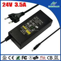 Single Output 84W Desktop Power Supply 24V 3.5A AC Adapter With UL CE