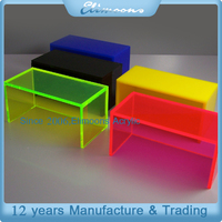 Stackable Countertop Colorful Acrylic Riser / Display acrylic Riser Stand For Shoe Or Bag,Monitor