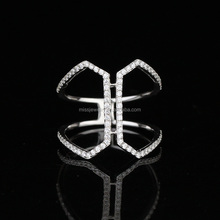 New Design Ladies 925 Sun Silver Knuckle Finger Ring MJCR066