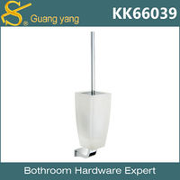 Glass Toilet Brush Holder cheap bathroom accessories toilet brush with holder KK66039