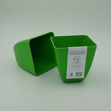 bamboo fiber bio square flower pot