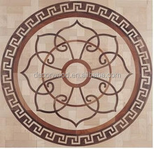 high quality custom made wooden medallion parquet flooring