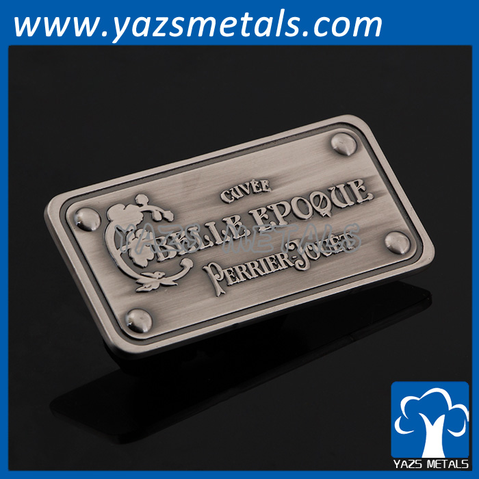 Custom metal luggage brand name logo tag