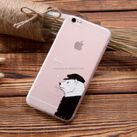 city&case bear pattern silicone cell phone case cover for iPhone 6 6s