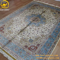 Bosi 5.5x8ft blue new finished handmade silk carpet beautiful design of carpet