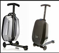 PC hard shell hot selling luggage scooter