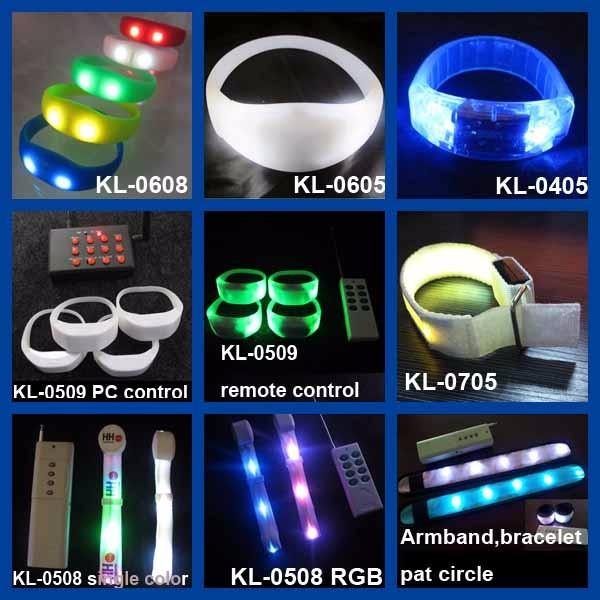 Flashing Light Led Wristband Remote Control Led Bracelet