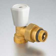 Air condition heating installation thermostatic brass radiotor angle valve