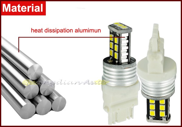 Hot sale highbright 800lm 8w 2835 15smd high power auto car bulb 3157 led