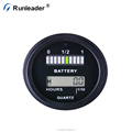 Runleader Battery Fuel Gauge Indicator With Hour Meter For DC Powered Equipment Fork Lifts Golf Carts Floor Care Equipment