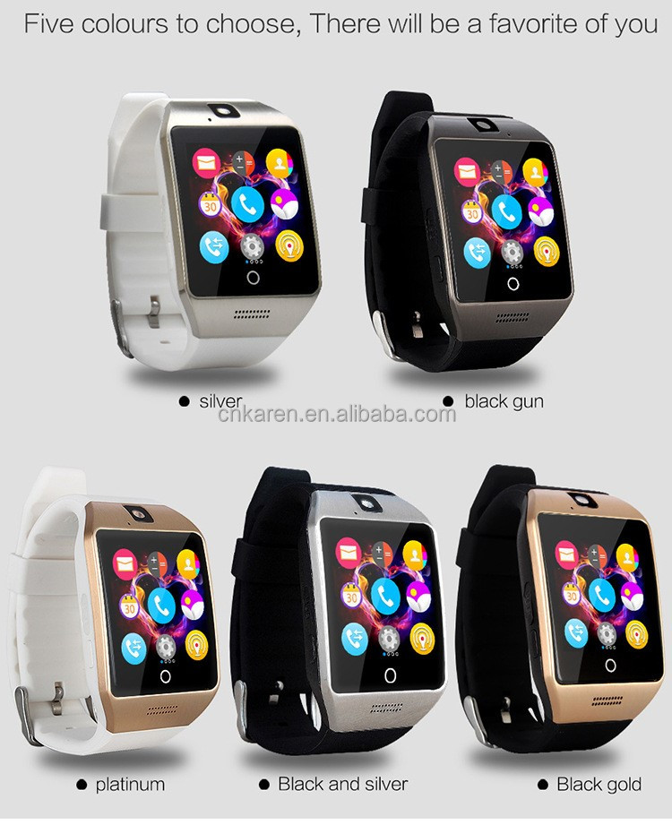 Newest Q18 Smart Watch Bluetooth Smartwatch Phone with Camera TF/SIM Card Slot for All Android Phones