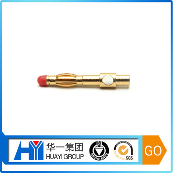 Manufacturer Custom 2/4/6/8mm Gold Banana Plug Banana Pin Connecter