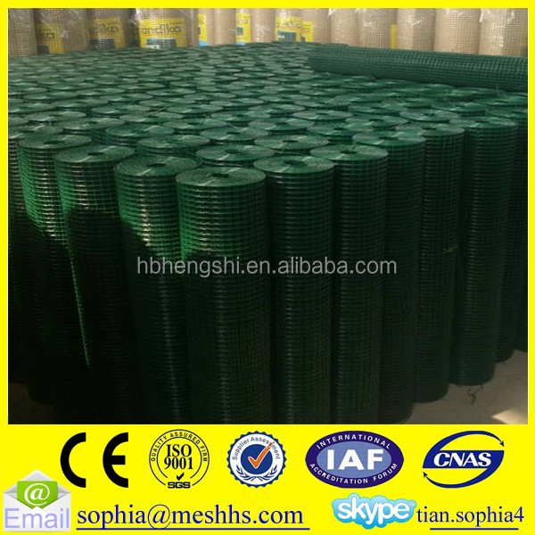 pvc coated g i wire mesh fence