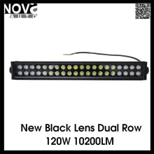 120W LED Work Light Bar With New Black Lens For Offroad