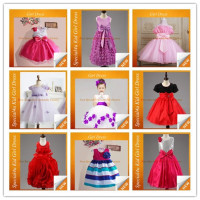 2016 The latest girls cotton frock designs hot selling kids frock dress fancy party dresses for girls of 7 years old SA -123