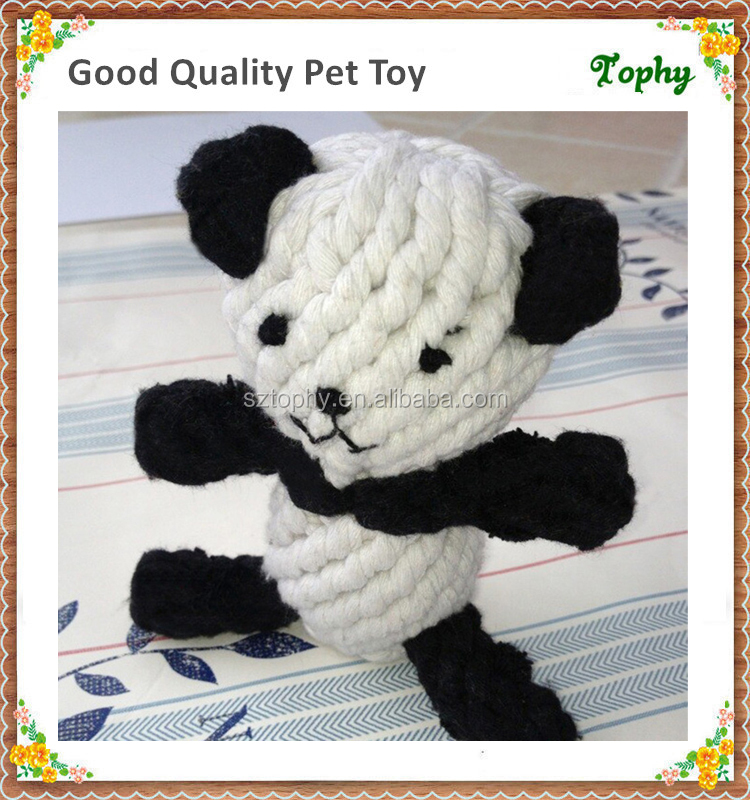 Panda shape Cotton Rope Dog Pet Toy Imported From China Manufacturer