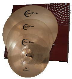 TE high quality cymbal set B10 cymbals 14 hi-hat 16 crash 20 ride