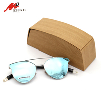 sunglasses packaging Bamboo color made by hand JJ43263 eyewear box sunglasses case