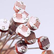 10Pcs 5528 Light Dependent Resistor LDR 5MM Photoresistor Photoconductive <strong>Resistance</strong> 5mm 5528 LDR