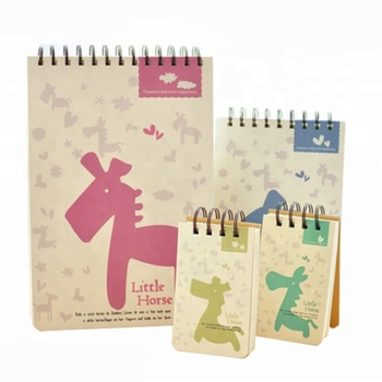 Wholesale customized small spiral square lined paper notebooks
