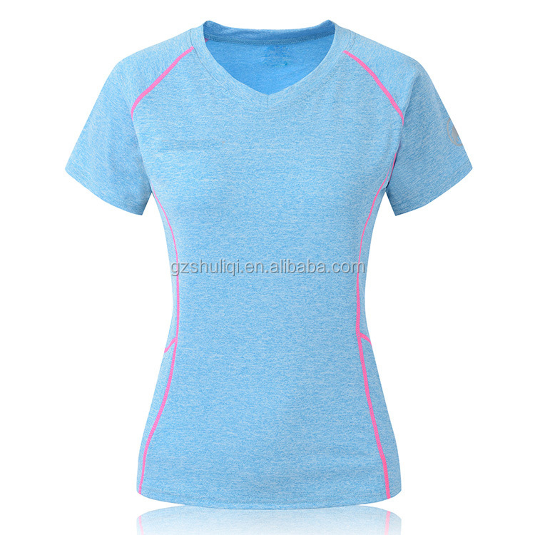 Slim fit cation fabric girl t shirt OEM pretty woman clothing beautiful girls top Shuliqi clothing brands