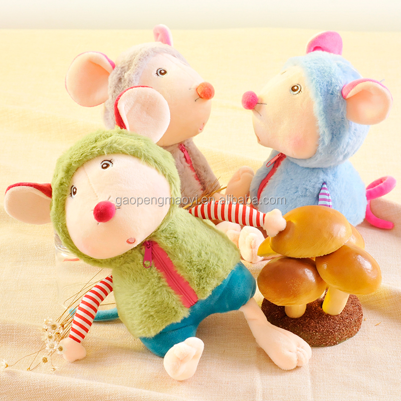 Cute Mouse Baby With Cloths Soft Stuffed Plush Toys For Kids Gift Soft Stuffed Toys