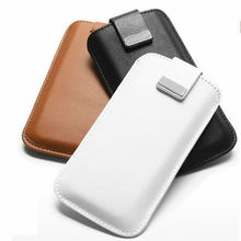 Plain snap-on leather bag case for samsung galaxy core plus case