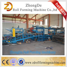 Sandwich eps and rock wool roll forming machine / polyurethane sandwich panel