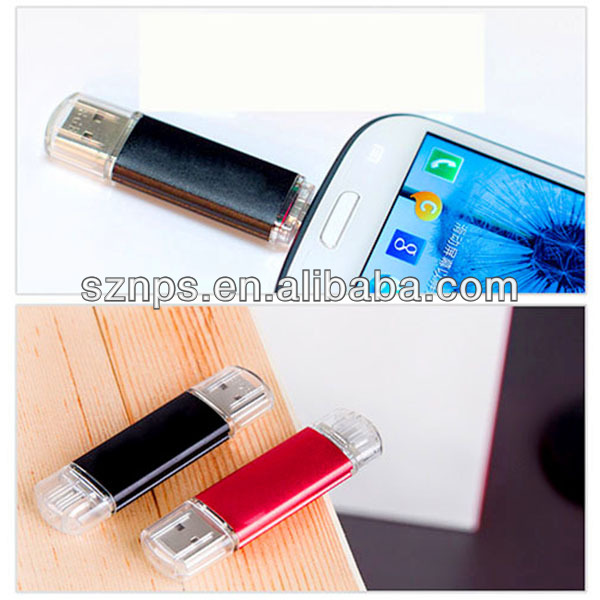 Full capacity metal android phone usb flash drives 128gb usb flash drive